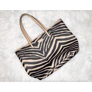 Coach Parker Metro Zebra Tote Bag